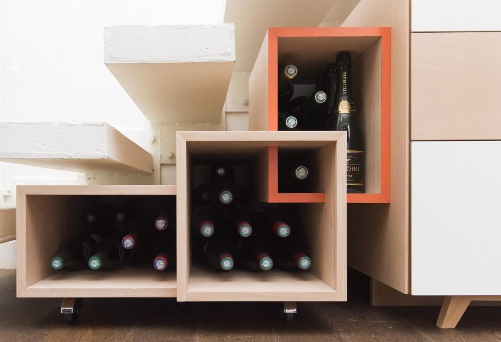 casier à bouteille ebeniste