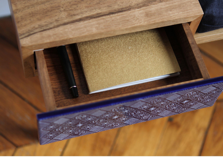 banquette et console d 39 entr e en noyer eb nisterie 111. Black Bedroom Furniture Sets. Home Design Ideas