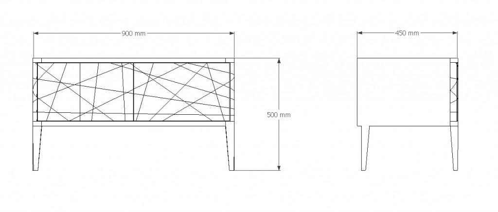 plan meuble TV Gisèle
