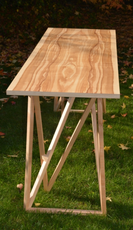 Beau plateau de bureau bois