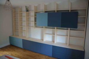 Bibliothèque trois couleurs : bleu