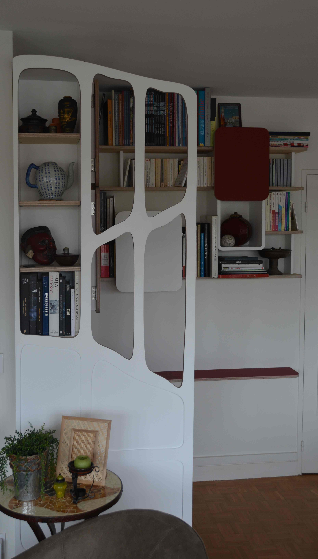 coin bureau avec paravent gaudi eb nisterie 111. Black Bedroom Furniture Sets. Home Design Ideas