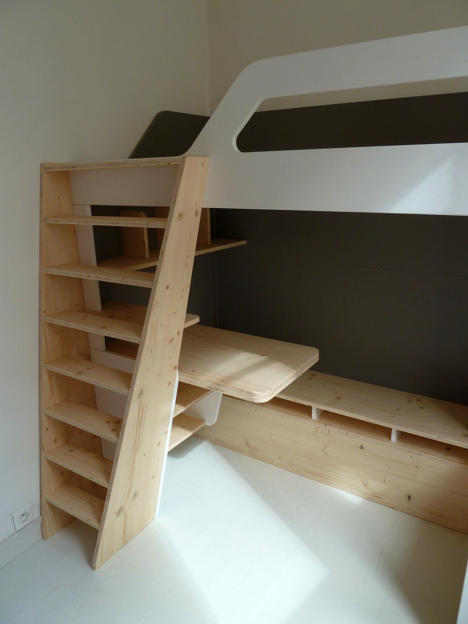 escalier lit mezzanine ebeniste hauts de seine