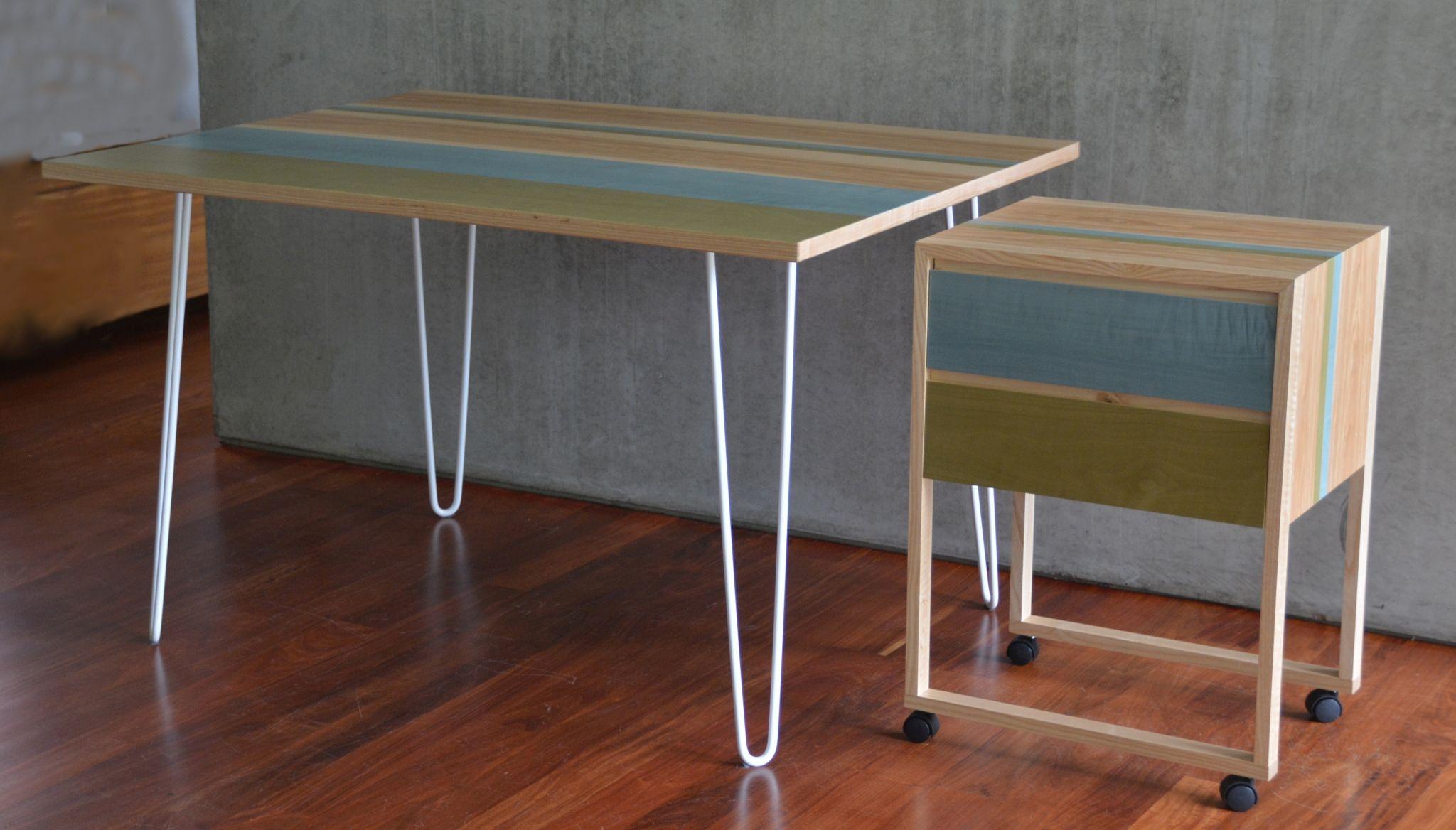 table à rayures