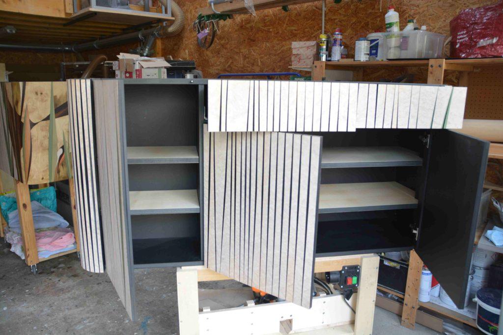 Montage du meuble à l'atelier ébénisterie 111 à Bois Colombes.