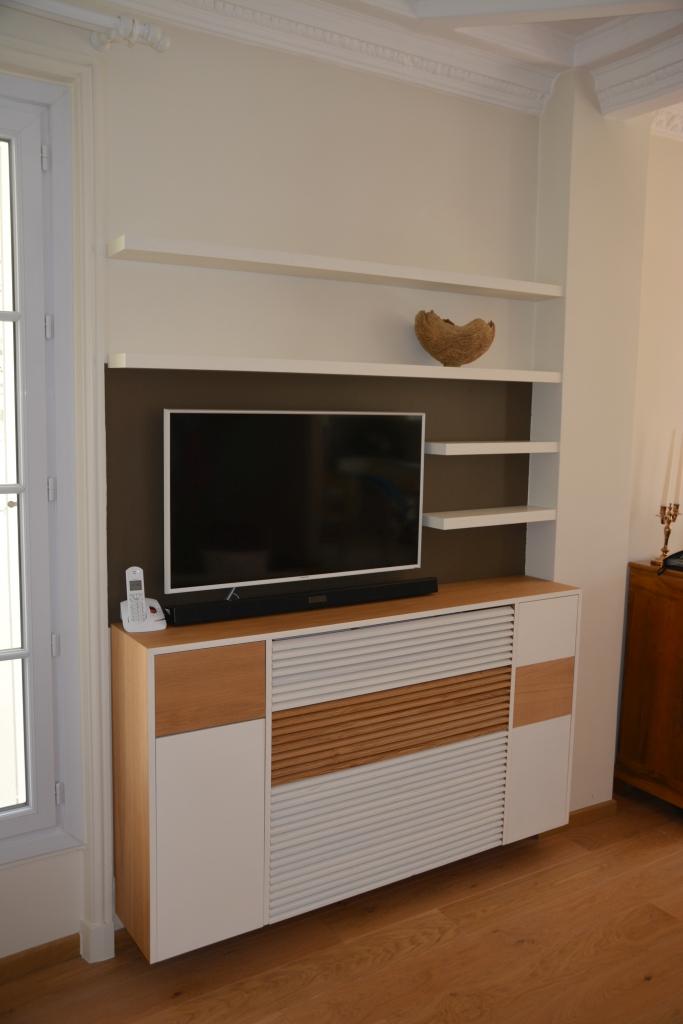 meuble TV intégré