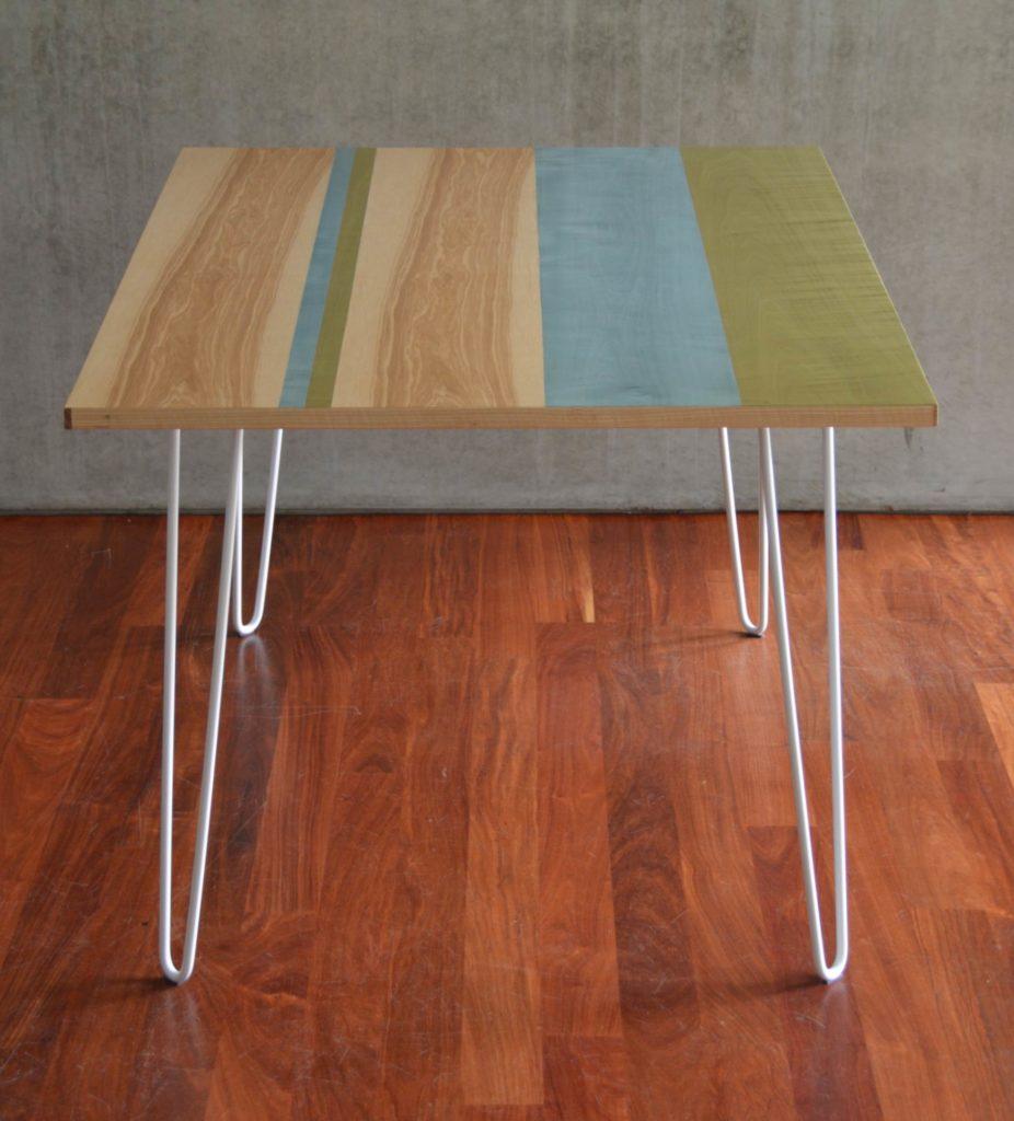 Ripaton Pieds De Table table à rayures et desserte - ebénisterie 111